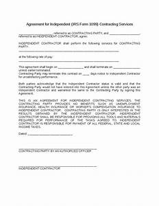 1099 contractor agreement template pictures to pin on for 1099 contractor agreement template