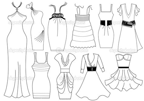 stylish page free coloring pages of design dress