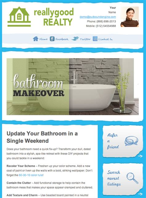 email newsletter templates real estate 5 elements of good real estate newsletters templates