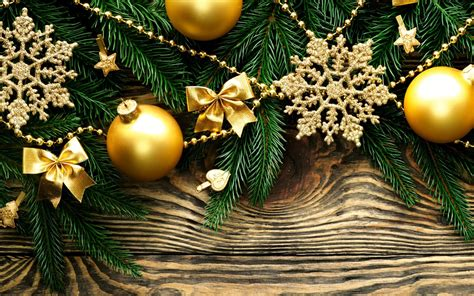 Green And Gold Tree Wallpaper by Branches Tree Fir Bow Balls Green