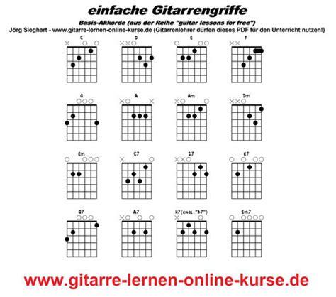 gitarrenakkordtabelle gitarre lernen