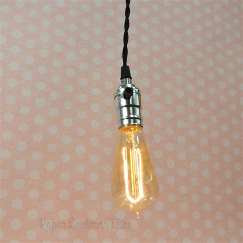 pendant light cord kit single pearl black socket pendant