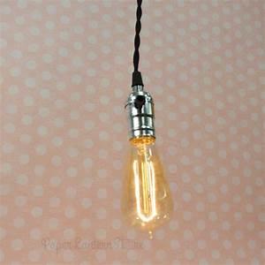 Single silver socket pendant light lamp cord kit w dimmer