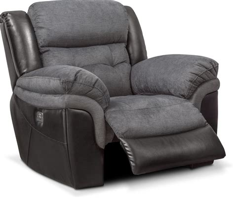 tacoma dual power recliner black  city furniture