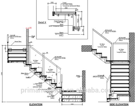 customized tempered glass interior stair railing modern design single stringer steel staircase