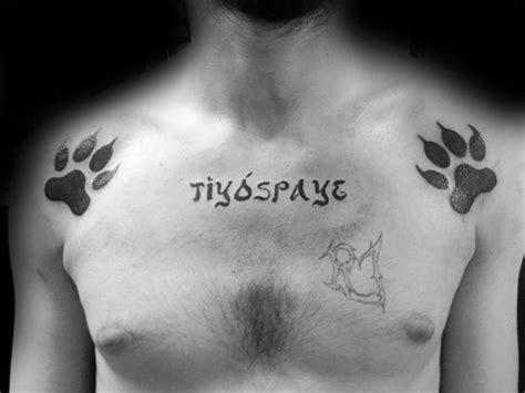 wolf paw tattoo designs  men animal ink ideas