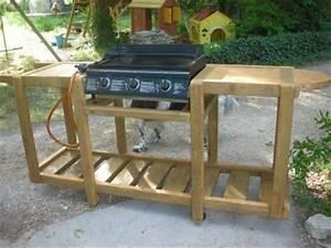 Meuble en bois pour une plancha construction roulotte
