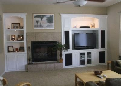 custom white wall unit with bookshelves a customer favorite in southern get a built in white entertainment center from cabinet