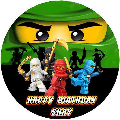 Lego Ninjago Round Edible Cake Image Topper 1 The