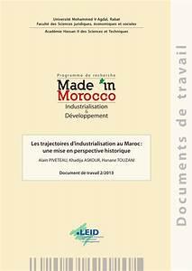 pdf les trajectoires d39industrialisation au maroc une With ordre des avocats rabat