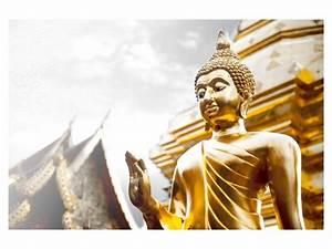 Buddha Bilder Gemalt : goldener buddha mit erhobener hand energievolle buddha bilder ~ Markanthonyermac.com Haus und Dekorationen