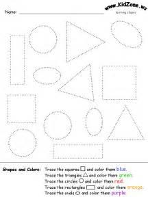 Preschool Shapes Tracing Worksheet