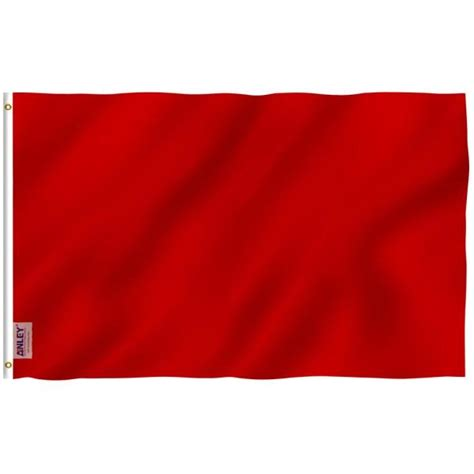 ANLEY Fly Breeze 3 ft. x 5 ft. Polyester Solid Red Color ...