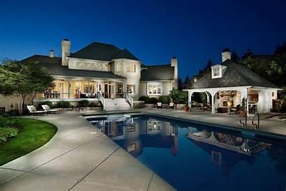 Luxury Pool Designs Wallpapers Houses Building Night