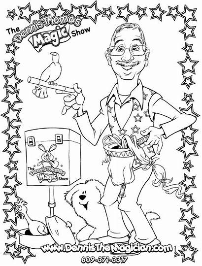 Coloring Sheets Magic Magician Sheet Dennis