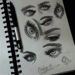 Black and White Drawings Girly M