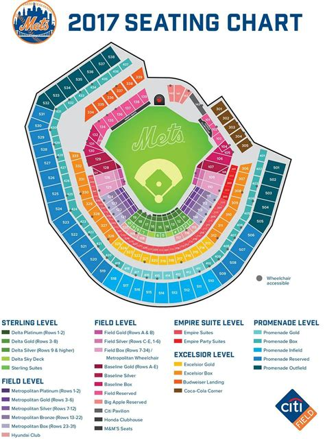 citi field seating chart mets mets seating charts ny mets map