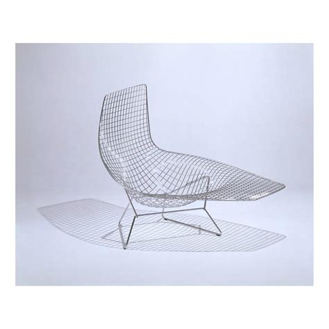 chaise bertoia blanche bertoia asymmetric chaise knoll