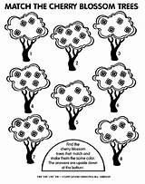 Cherry Tree Coloring Match Pages Crayola sketch template