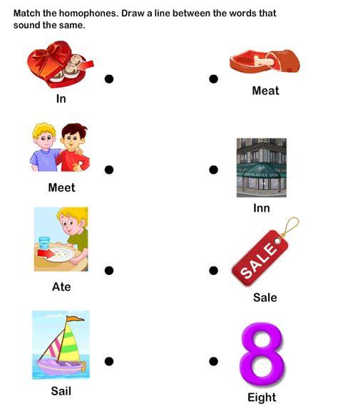 homophone word worksheet esl efl worksheets