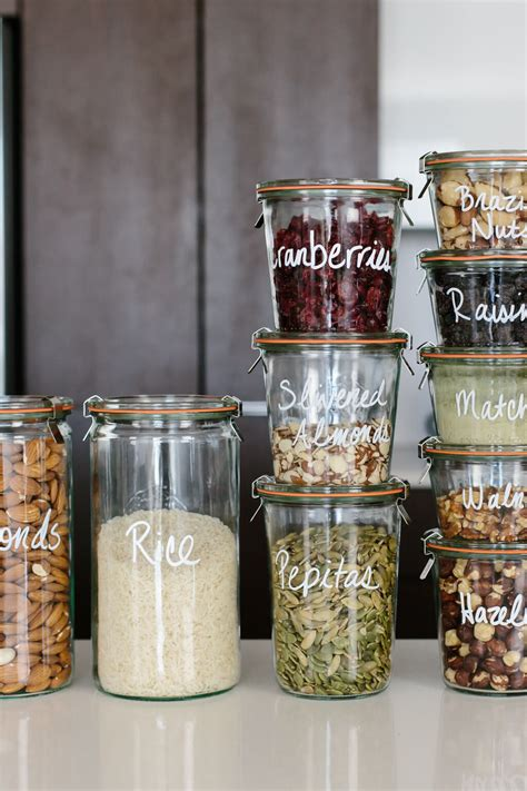 glass kitchen storage jars pantry organization tips for a creating a healthy pantry 3801