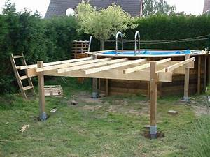 piscines spas quelle structure support pour terrasse en With piscine sur terrasse bois