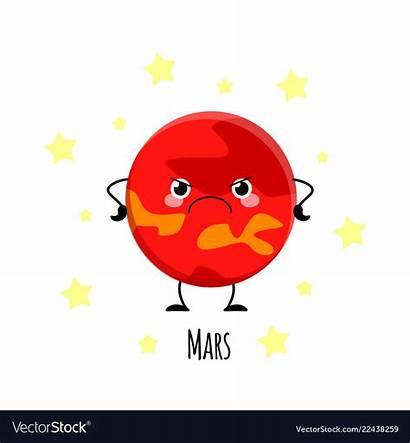 Mars Planet Vector Kawaii Characters Planets Vect