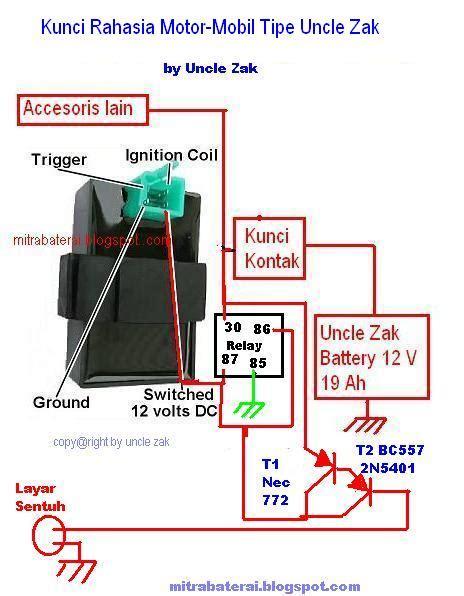 solusi battery kunci rahasia sentuh otomatis motor dan mobil