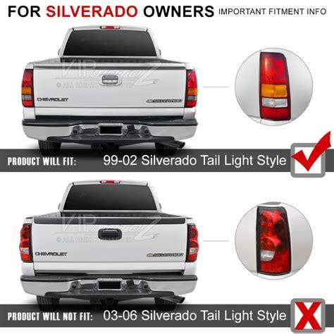 1996 chevy silverado tail lights chevy silverado 99 2002 gmc sierra truck smoked ultra