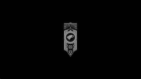 game  thrones song  ice  fire stark minimal black