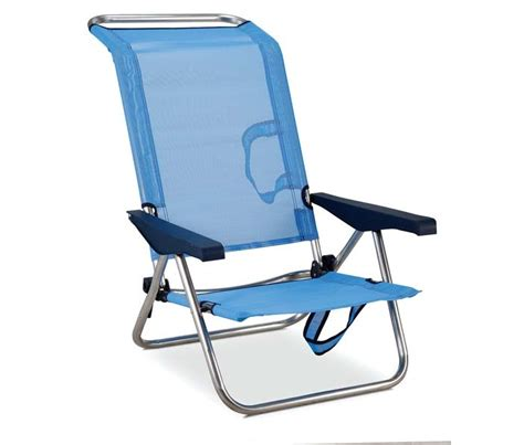 siege de plage fauteuil lit multi alu et textilène modèle