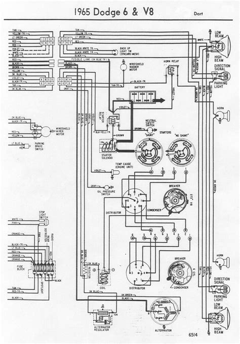 65 Dodge Dart Wiring Diagram 65 front wiring diagram 1965 dodge dart early a