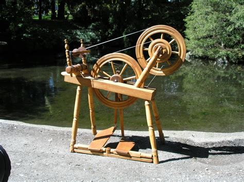 spinning wheel j l 39 heureux accelerated wheel date on the treadle 1890