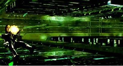 Matrix Trinity Reloaded Club Background Falling Guns