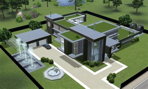 awesome modern house plans sims   home plans design