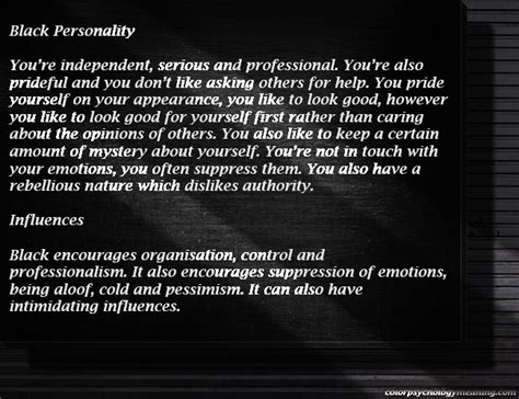 the meaning of the color black color black color psychology personality meaning