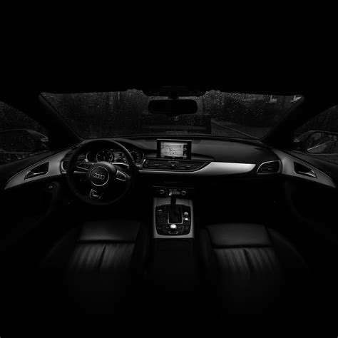 No06-audi-car-interior-dark-bw