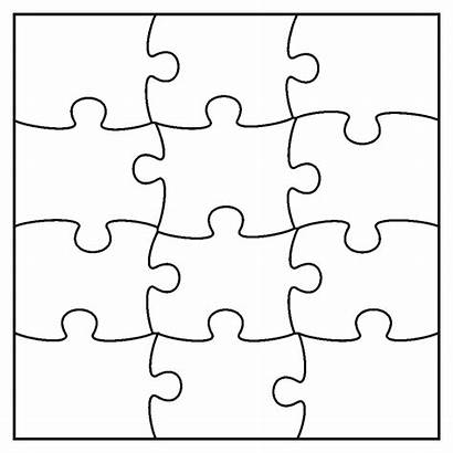 Puzzle Jigsaw Piece Pieces Template Transparent Clipart