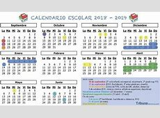 Calendario escolar 20182019 las fechas clave, festivos y