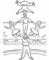 Trapeze Coloringsun Acrobat sketch template