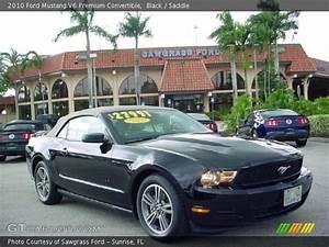 Black - 2010 Ford Mustang V6 Premium Convertible - Saddle Interior | GTCarLot.com - Vehicle ...
