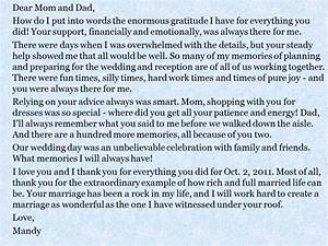 a message from the bride and groom to their parents With to my mom on my wedding day letter