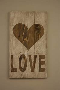 Items similar to rustic love valentine sign wedding decor