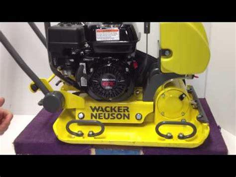wacker neuson vp  wa plate compactor discussion youtube