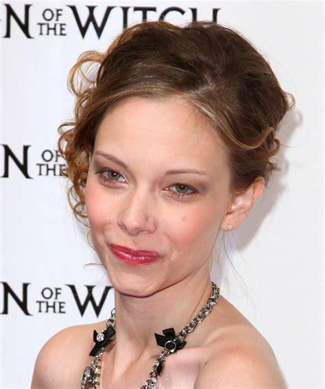 rebekah kennedy long curly dark honey brunette updo