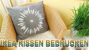 Kissen Günstig Bedrucken : diy ikea kissen mit textilfarbe bedrucken g nstige ver nderung selber machen youtube ~ Markanthonyermac.com Haus und Dekorationen