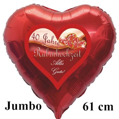 Weitere ideen zu rubinhochzeit, rubinhochzeit geschenk, hochzeit. Folienballon Herzliche Glückwünsche zur Rubinhochzeit, Folienballon inklusive Heliumfüllung