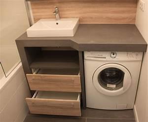 Machine à Laver Petite : un lave linge dans une petite salle de bain atlantic bain ~ Melissatoandfro.com Idées de Décoration