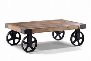Table Basse Rose : table basse industrielle roulettes tb01 rose moore ~ Teatrodelosmanantiales.com Idées de Décoration