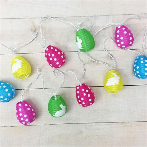 pastel easter egg lantern string lights